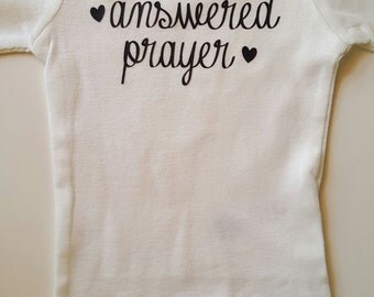 Answered Prayer Bodysuit, new baby, answered prayer, newborn, twins, multiples, triplets, bodysuit, infant clothing, babyshower, baby gift