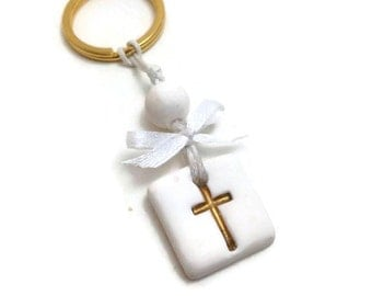 Greek Baptism Martirika Favors, Baptism Cross Keychain Favor, Cross Party Favor Keyring, Cross Theme Party Favor, Christening Witness Pins