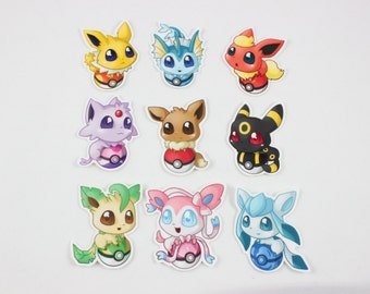 "Pokemon Eeveelution 2"" Vinyl Stickers"