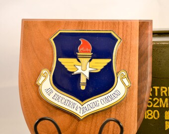 Air Education & Training Command Plaque - ACC Militaria - Air Force Collectible - USA Collectible