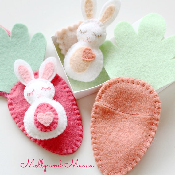 carrot treat pouch easter felt pattern felt bunny pdf pattern bitty bunnies easter pattern 7487