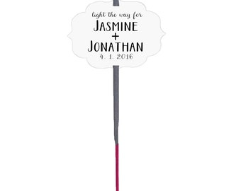 Custom wedding sparklers, wedding sparkler tags, custom wedding tags