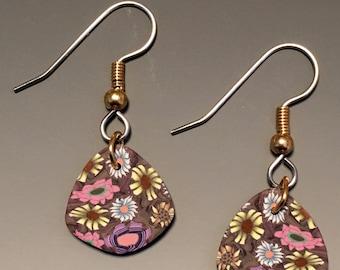 Multicolored wildflower earrings