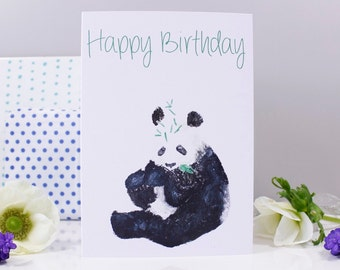 Happy Birthday Panda Card - Panda Birthday Card - Panda card - Cute birthday card - Animal birthday card - Love panda card