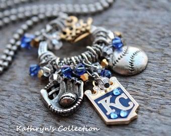 Kansas City Royals Necklace, Royals Necklace, Royals Jewelry, Royals Fan Wear