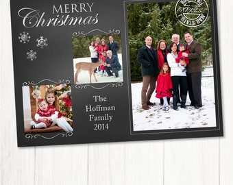 Christmas Photo Card, Christmas Greeting Card, Holiday Card, Family Photo Card, Personalized Card, Christmas Card, Happy New Year Card