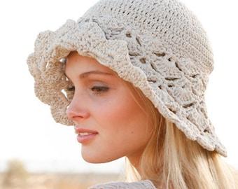 Summer hat, beach hat, cotton hat, woman summer hat.