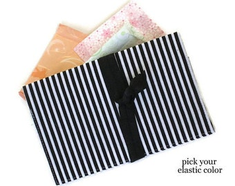 Tampon Case Black Sanitary Pad Holder / Feminine Product Pouch / Feminine Hygiene Wallet / Striped Tampon and Pad Case / Teen Gift Women