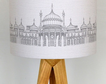 Grey Linen Pavilion Lampshade