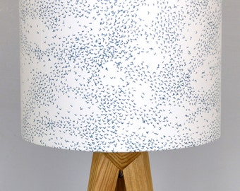 Starlings Teal Drum Lampshade - handmade lampshade - home decor - fabric shade - Brighton Lampshade - decor lighting - patterned shade