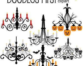Chandelier clipart etsy creepy chandeliers digital clip art for scrapbooking card making cupcake toppers paper crafts mozeypictures Gallery