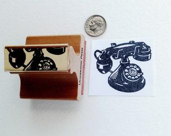 """Stamp - Rotary Phone, 1.7""""x1.5"""""""