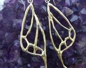 Moth Wing Earrings in Bronze
