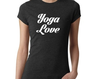 Yoga Shirt - Yoga Love, yoga top, yoga tank, Om shirt, Namaste shirt, Meditation shirt, Ladies shirt, yoga clothing, #LS71