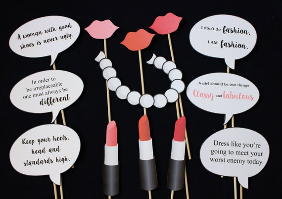 Coco Chanel Themed Photo Booth Props