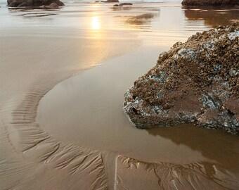 Facerock At Sunset, Bandon Beach on the Oregon Coast