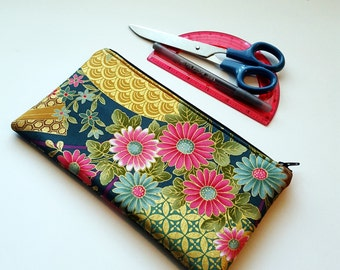 20%OFF Japanese Blossom Moss Green Large Pencil Case