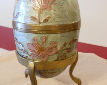 Brass Vintage 5-Inch Egg with Stand