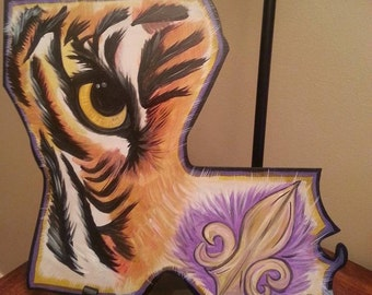 LSU Tiger eye decor