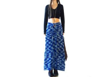 Crochet maxi skirt | Etsy