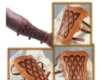 Button Stud Archery Arm Guard - leathercraft pattern - download PDF ONLY