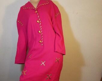 FREE  SHIPPING  1980 Designer Wool Dress