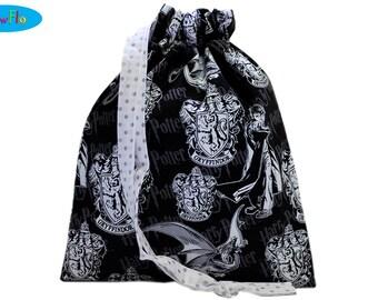 Sock Bag | Drawstring Sock Bag | Drawstring Bag | Knitting Bag | Project Bag | Harry Potter Bag