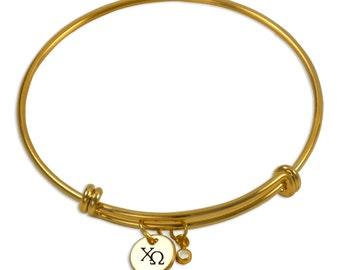 Chi Omega Sorority Bracelet / Sorority Bangle / ChiO Bangle / Sorority Jewelry / Chi Omega Jewelry / Chi Omega Gift / ChiO Jewelry