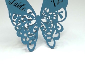 Butterfly Table Cards - Free Standing - Butterfly Wedding