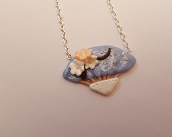 Asian Fan necklace