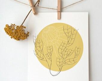 Abstract Tree Print, Tree Wall Art, Western Art Prints, Abstract Nature Art, Nature Wall Art, Item #024
