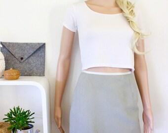 Valentino Miss V pencil skirt genuine designer corporate office suit size 8 grey