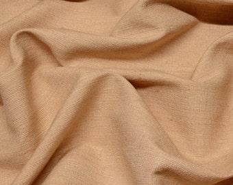 "Dusty Peach Tassah Raw Silk with Cotton Backing 100% Silk Fabric, 54"" Wide, By The Yard (WT-226A)"