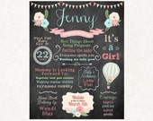Up Up and Away Baby Shower - Hot Air Balloon Baby Shower - Shabby Chic - Baby Shower Decor - Baby Shower Gift - Custom - Printable File