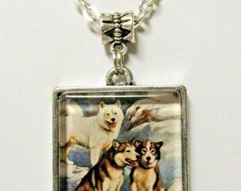 Alaskan Malemute pendant with chain - DAP05-052
