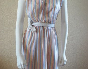 dress SALE pastel striped dress