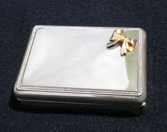 Vintgage Silver Plated Jewelry Box