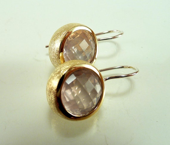 24 carat gold earrings earrings sterling silver 24 carat gold with quartz 129