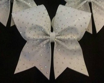 Light Scatter 3-Inch Cheer Bow w/hand-placed resin or rhinestone details