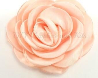 "Peach - 3"" Rose petal flower - Peach flower"