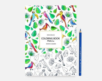 Coloring Book Exotic Cat Notebook Gift Floral