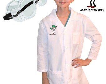 Kids Mad Scientist Lab Coat with Goggles