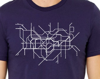 London Metro Map T Shirt