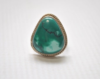 Sterling Silver Turquoise Ring Sz 5 #6276