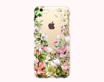 iPhone 7 Case, iPhone 7 Plus Case, iPhone 6/6S Case, iPhone 6/6S Plus Case, iPhone 5/5S/SE Case, Galaxy S8/S8Plus Case - Blossom Garden