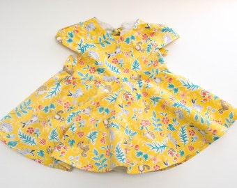 Baby Girl Special Occasion Dress in Yellow