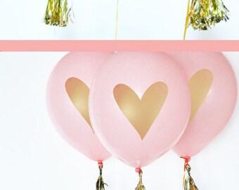 Balloon Tassel Garland Mini Tassels - Mini Gold Tassels to Make Your Own Pink and Gold Balloons 2| (EB3087) - set of 12 Mini TASSELS ONLY
