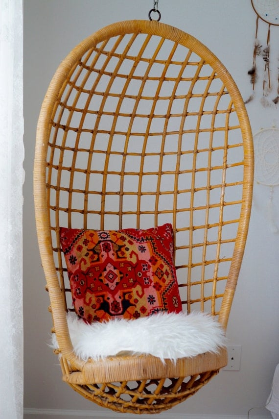 Silla del huevo rota vintage colgante for Silla huevo colgante