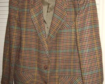 Vintage Fall and Winter Wool Blend Blazer Jacket Size 11/12 L  Beautiful!