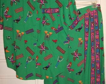 Dress 14, Two Piece  Egyptian Shirt and Maxi Skirt Stunning 14